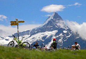 Chamonix to Grindelwald alps mountain bike