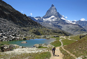 Chamonix to Zermatt Trip alps mountain bike
