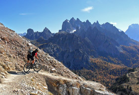 dolomites Italy the dolomites holidays mountain bike